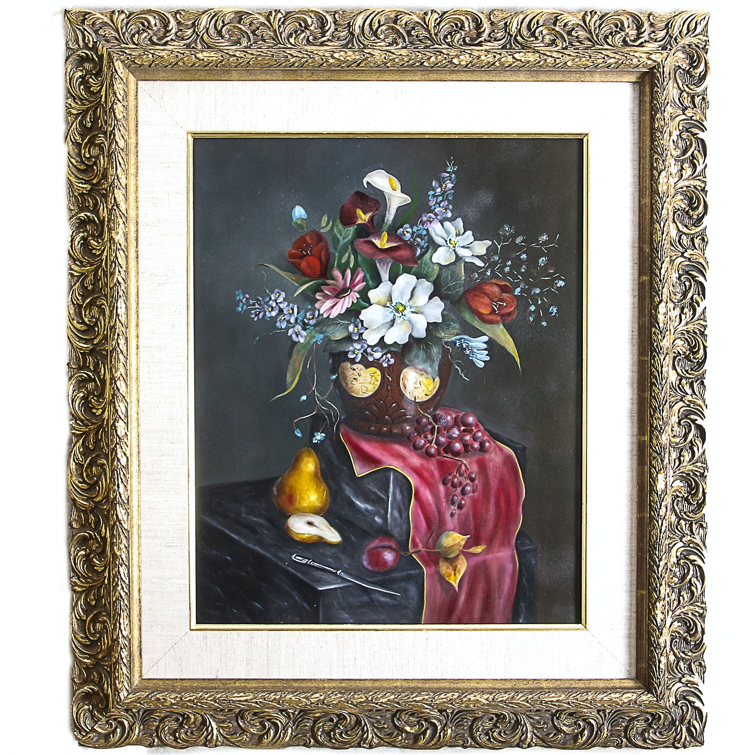 Framed Oil Painting on Masonite by Betty Nelson