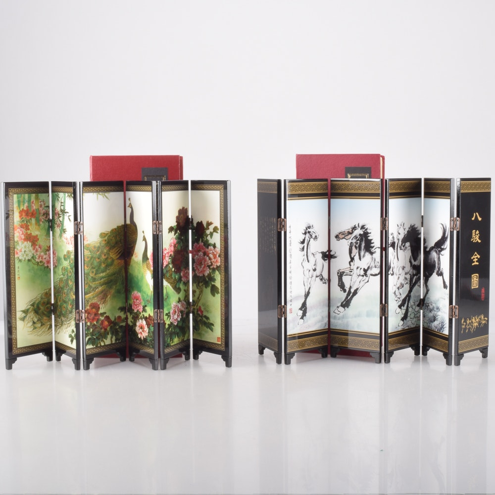 Miniature Chinese Folding Screens.