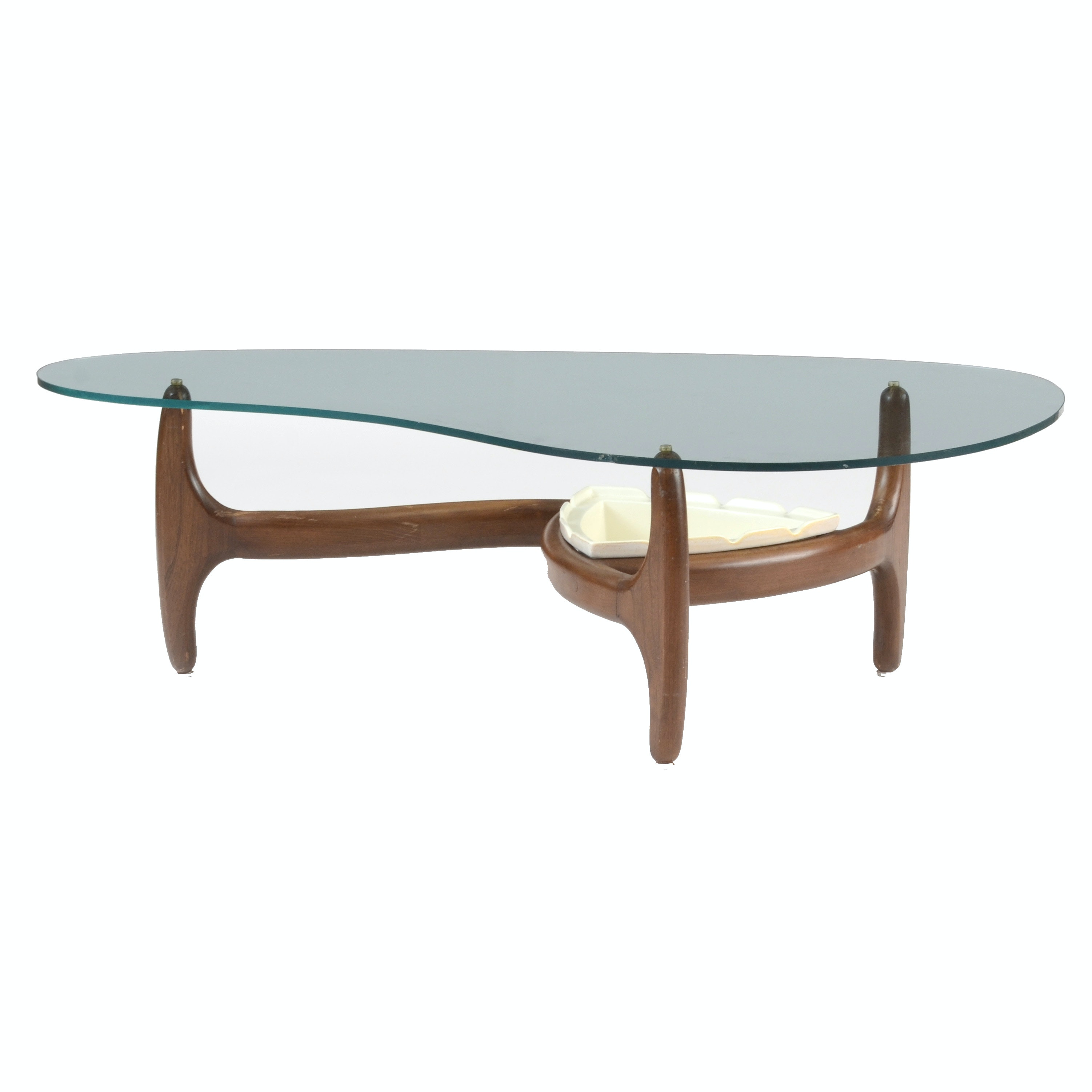 Mid Century Modern Coffee Table with Planter Insert