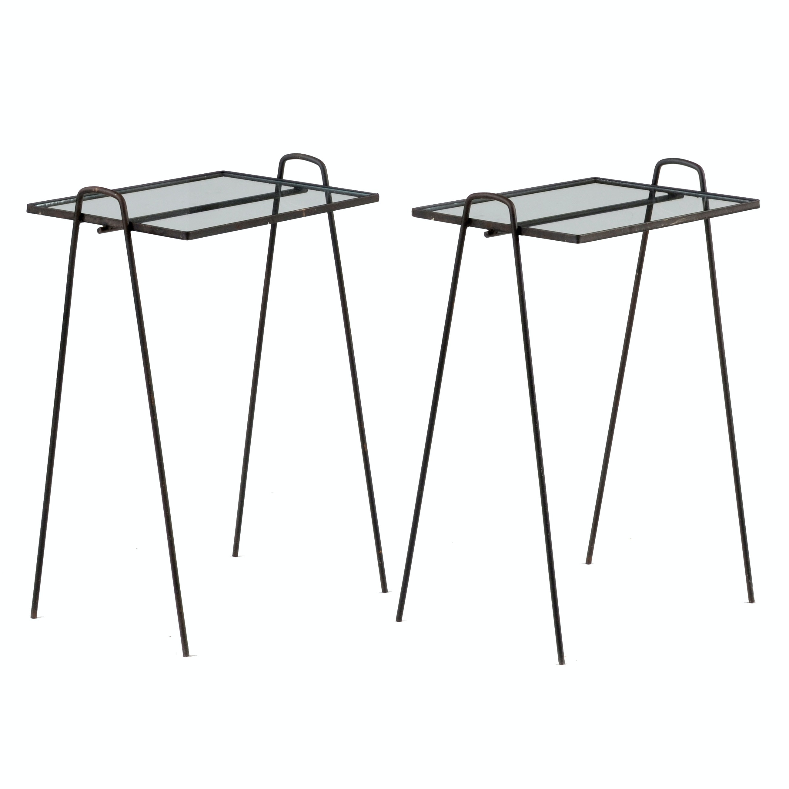 Mid Century Modern Stacking Hairpin Leg Side Tables