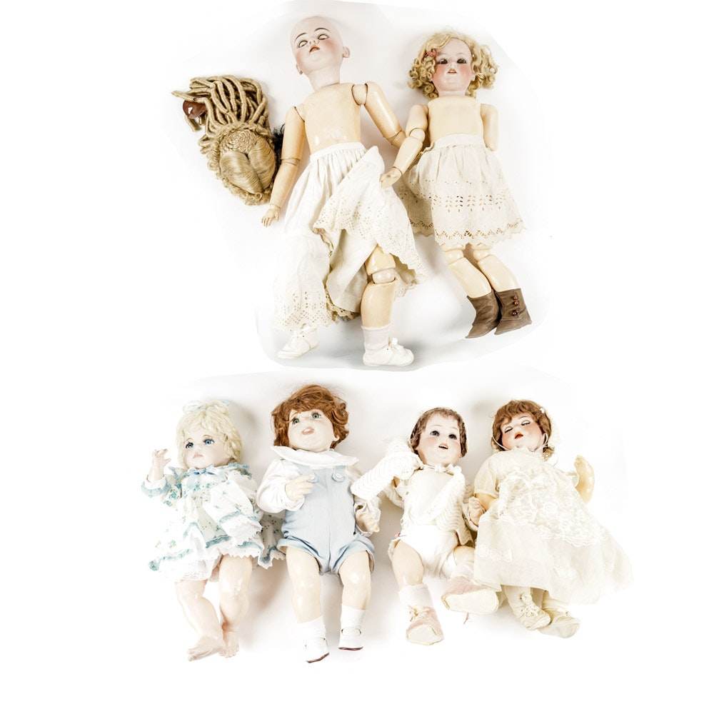 Vintage and Antique China Dolls and Doll Parts