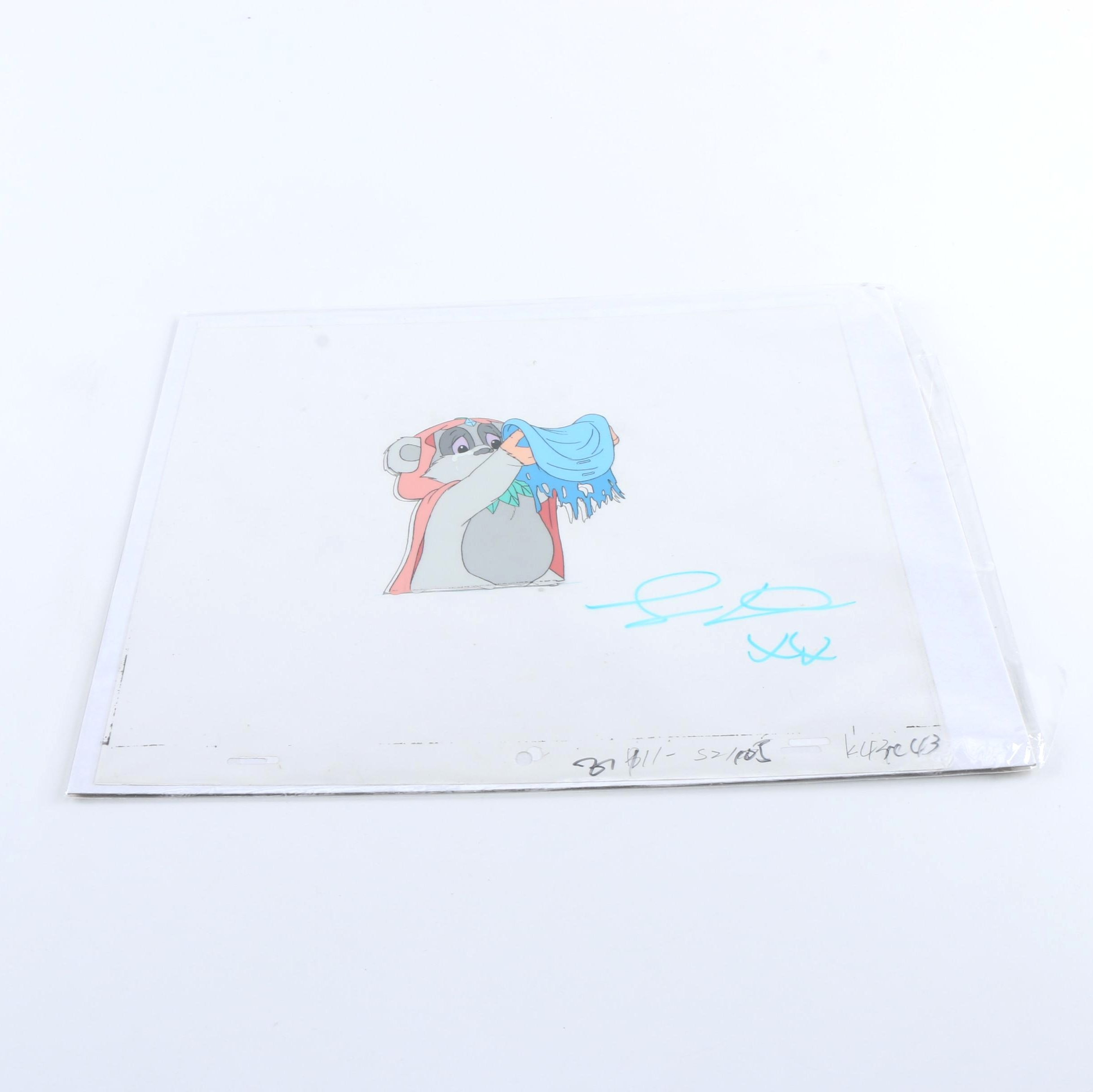 """""""Star Wars: Animated Adventures"""" Ewok Signed Animation Cell"""