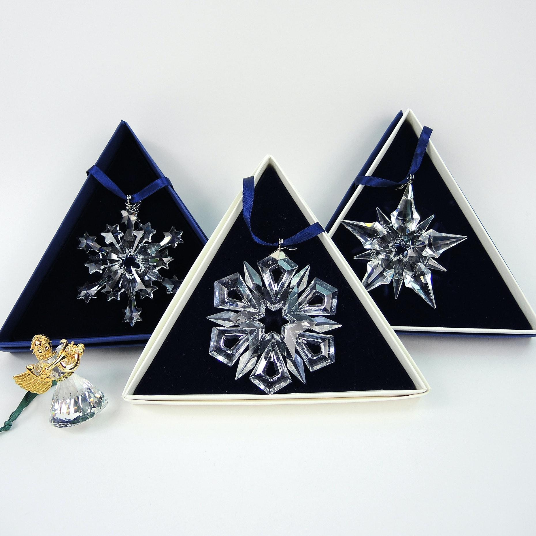 Swarovski Crystal Snowflakes Christmas Ornaments