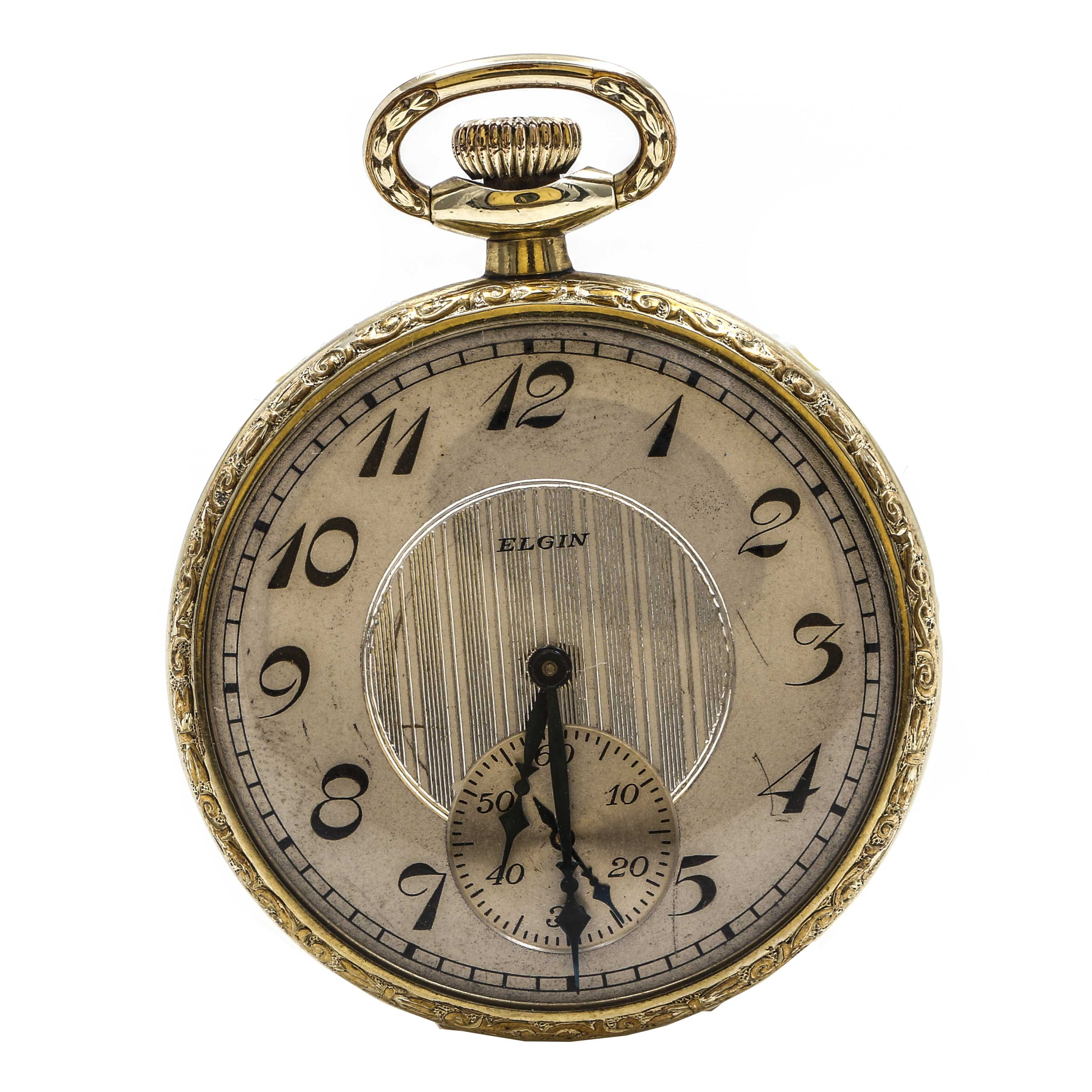 Circa 1924 Gold Filled Elgin Pocket Watch
