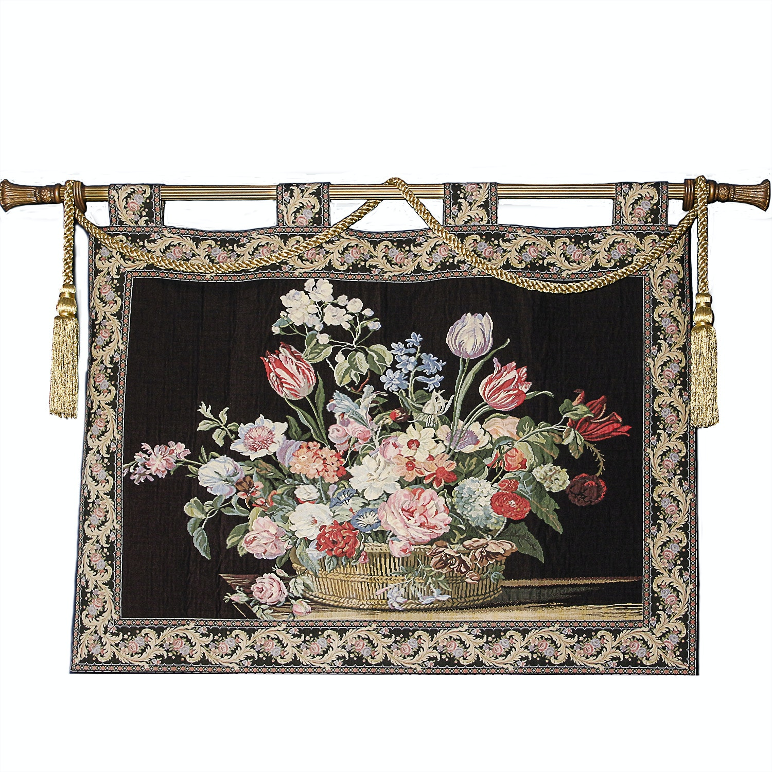 Wall Tapestry of Floral Arrangement