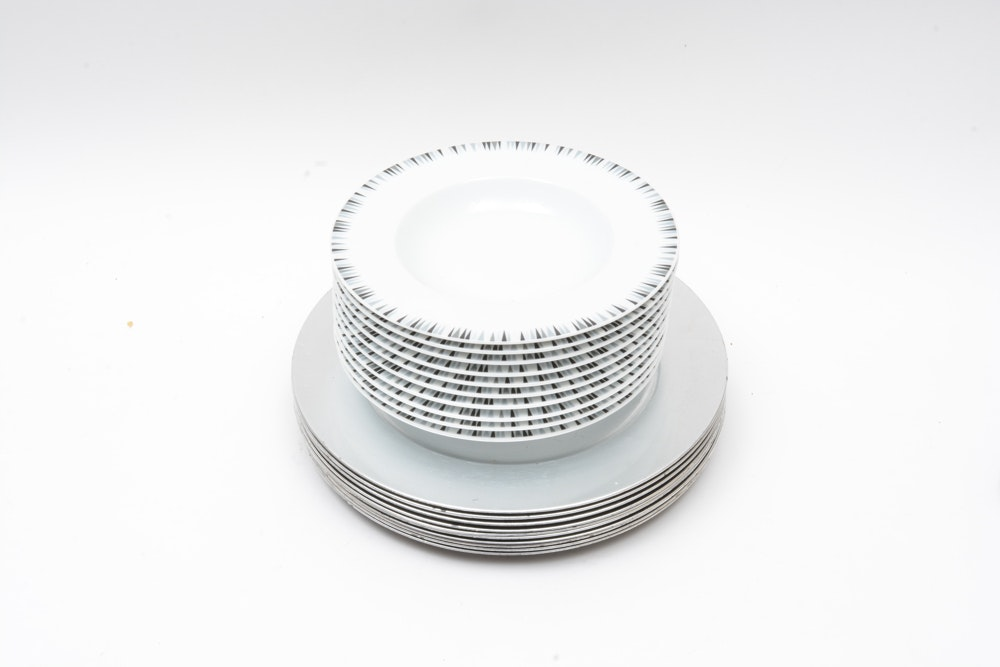 Black, White and Silver Tableware