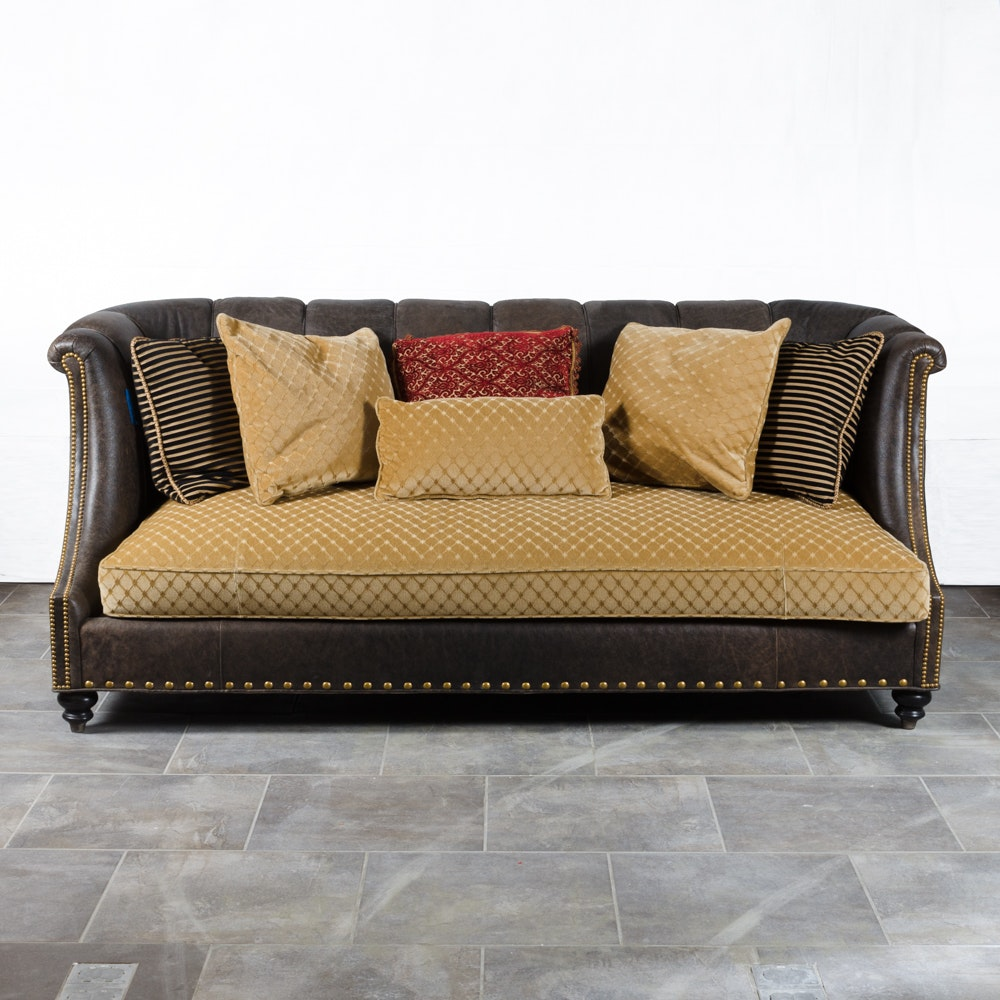 Contemporary Faux-Leather Sofa by Raymond Waites for Lane