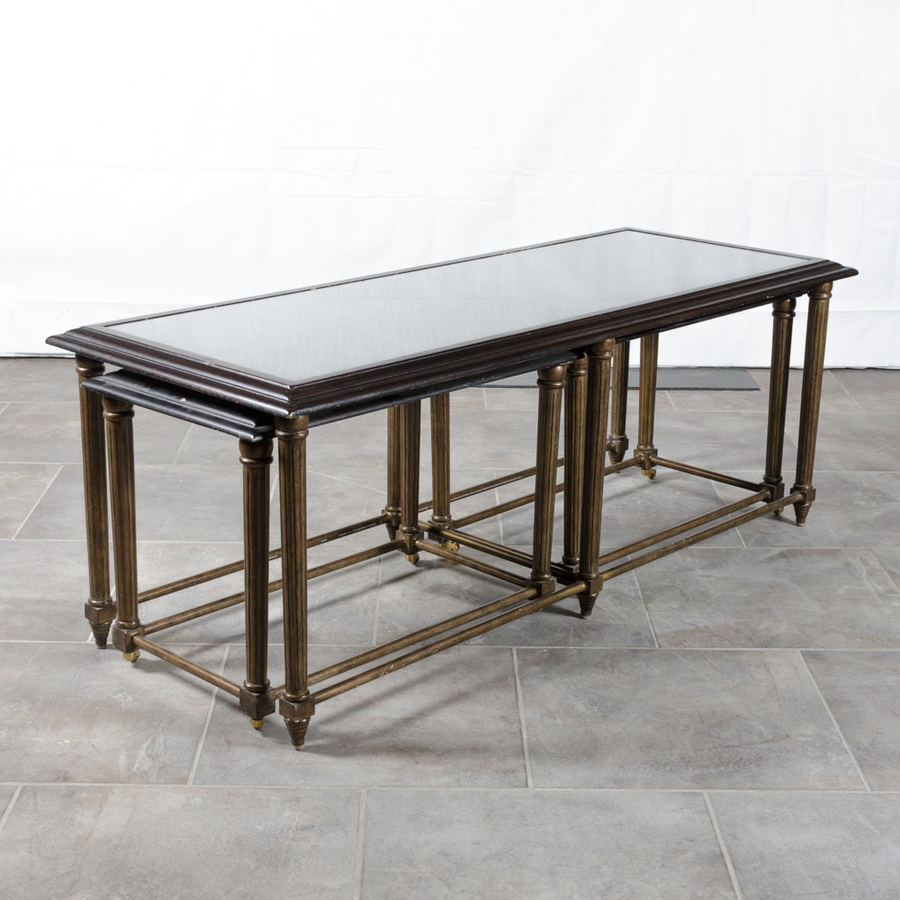 Contemporary Coffee Table With Nested Side Tables