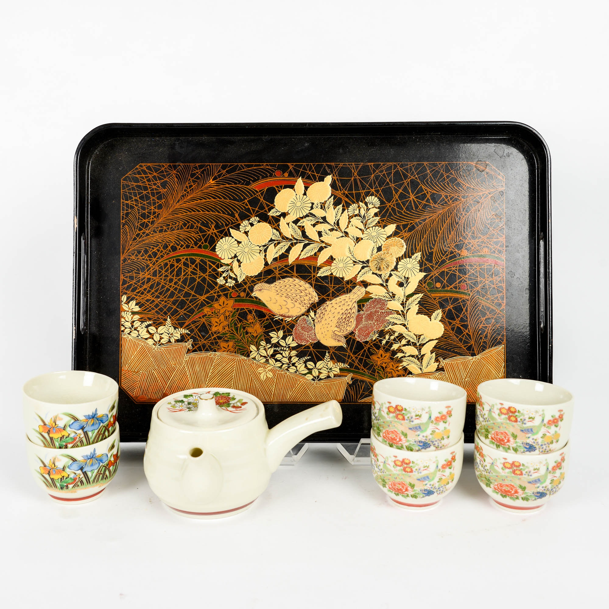 Japanese Tea Set and Serving Tray