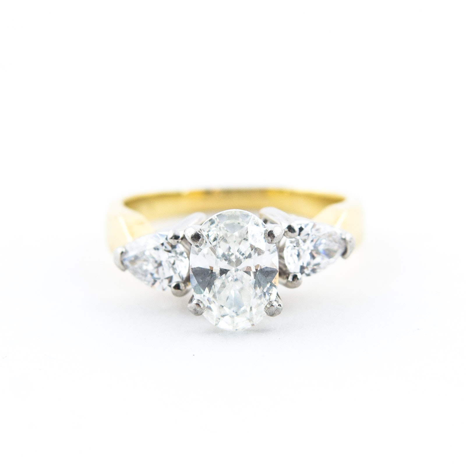 2.03 CTW Diamond and 18K Yellow Gold and Diamond Ring