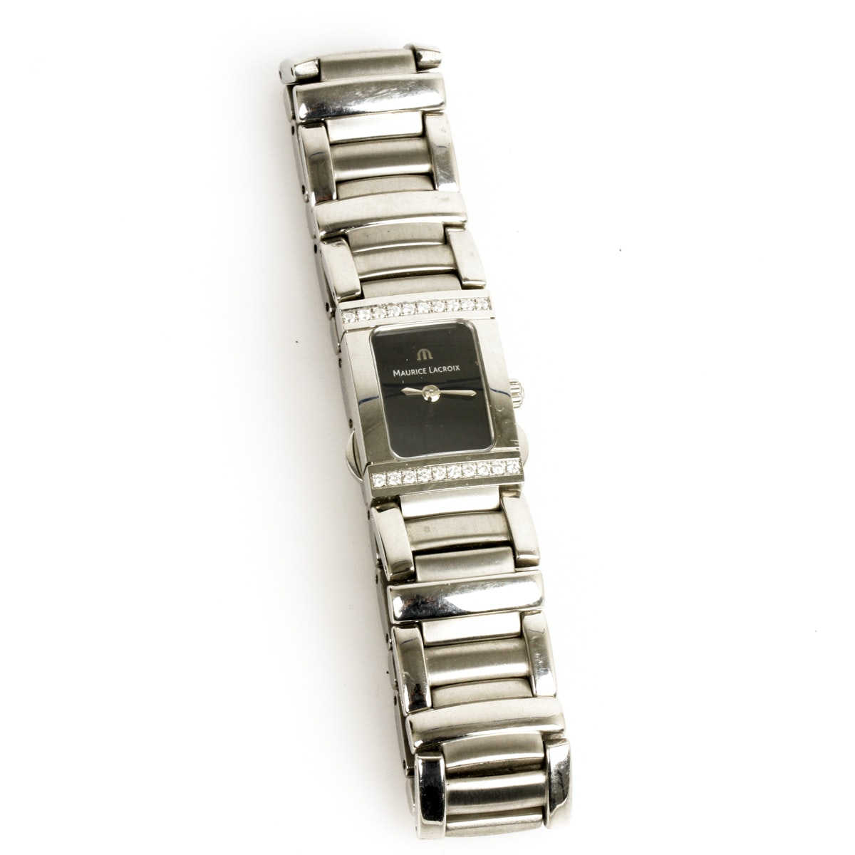 Maurice Lacroix Stainless Steel and Diamond Women's Wristwatch