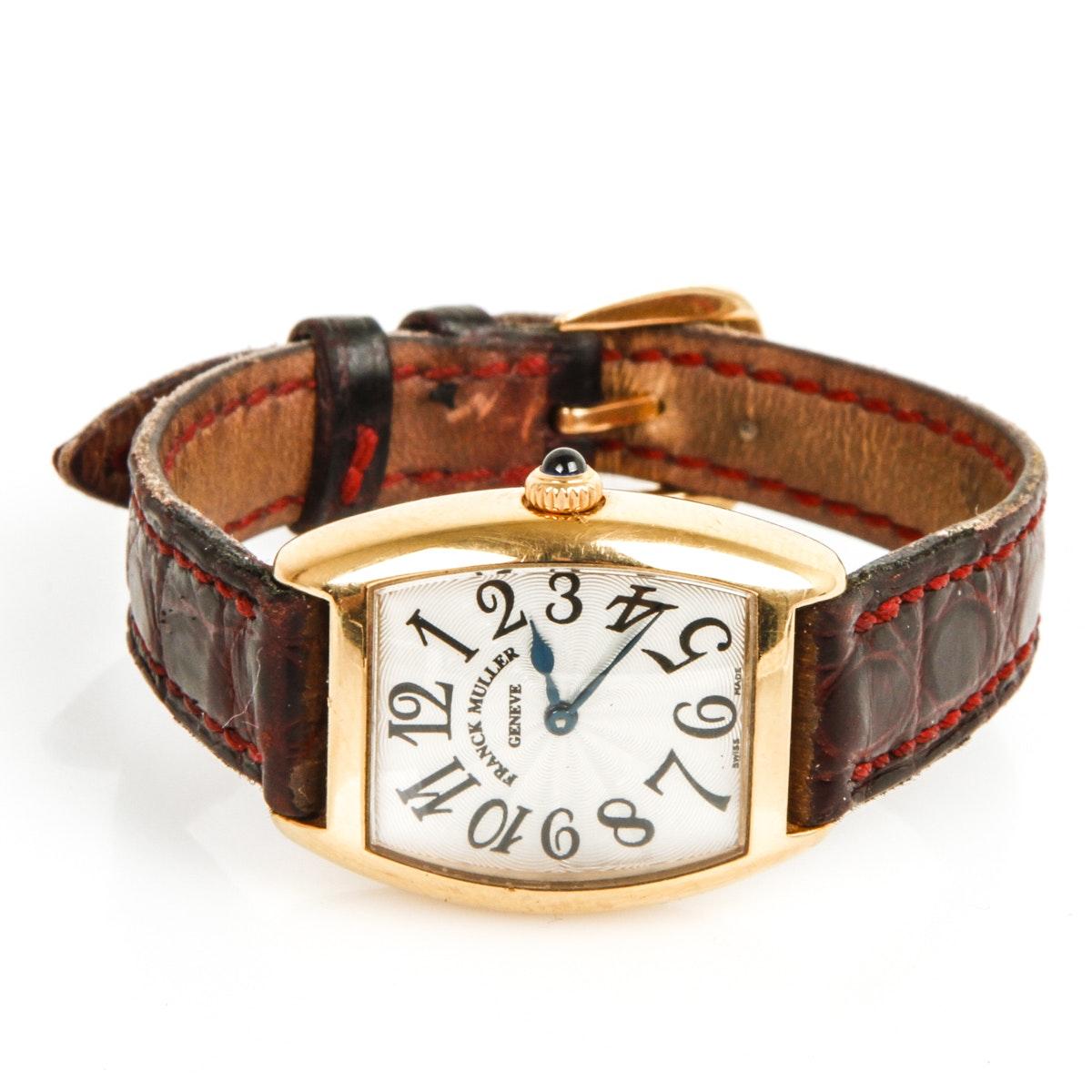 Franck Muller 18K Yellow Gold Geneve Wristwatch
