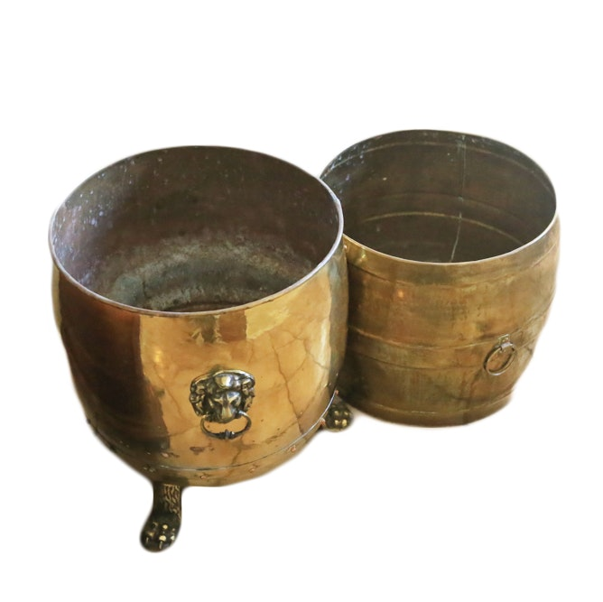 Pair of Brass Planters