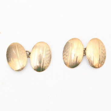 Pair of Gold Plated Cufflinks