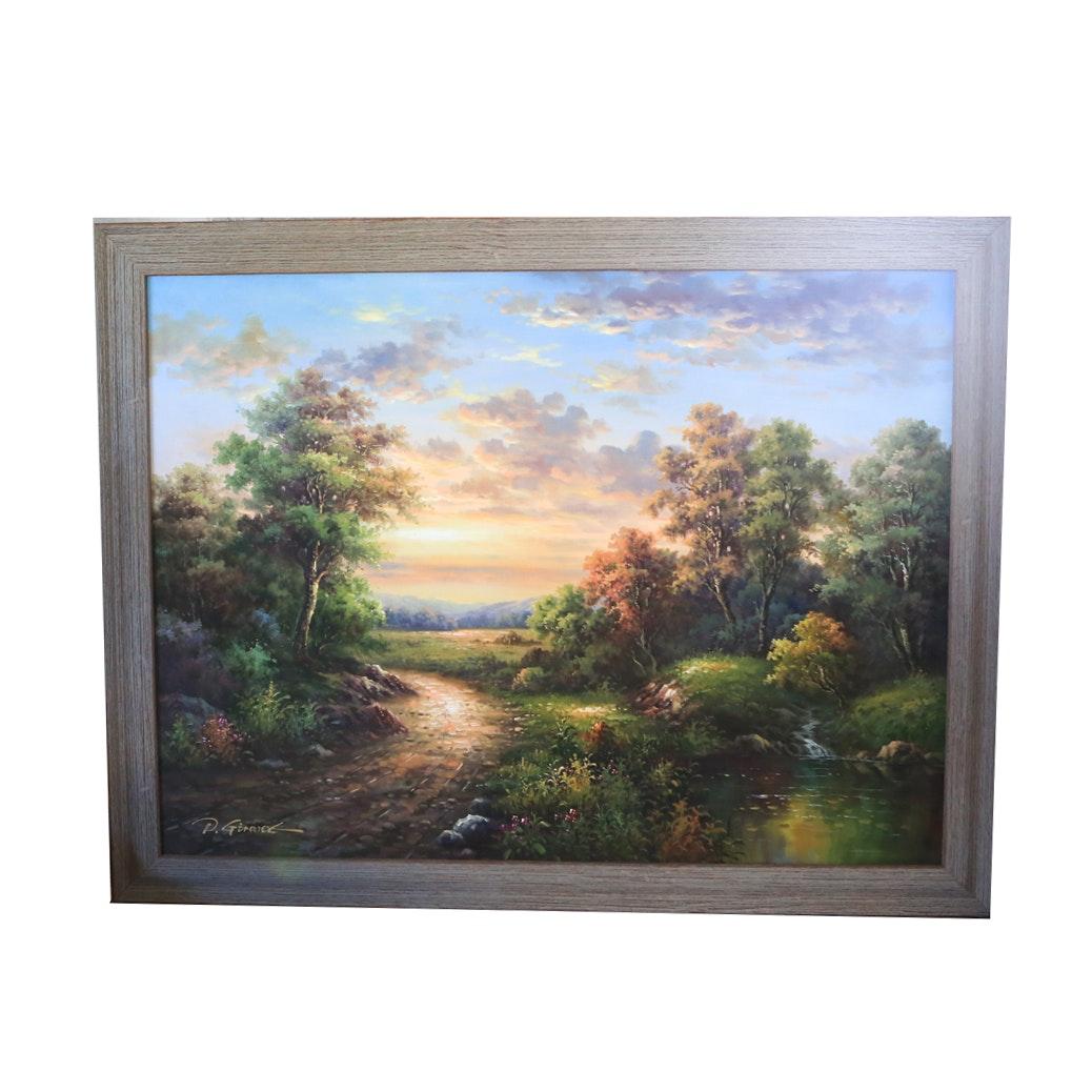 Original D. Girard Oil Painting