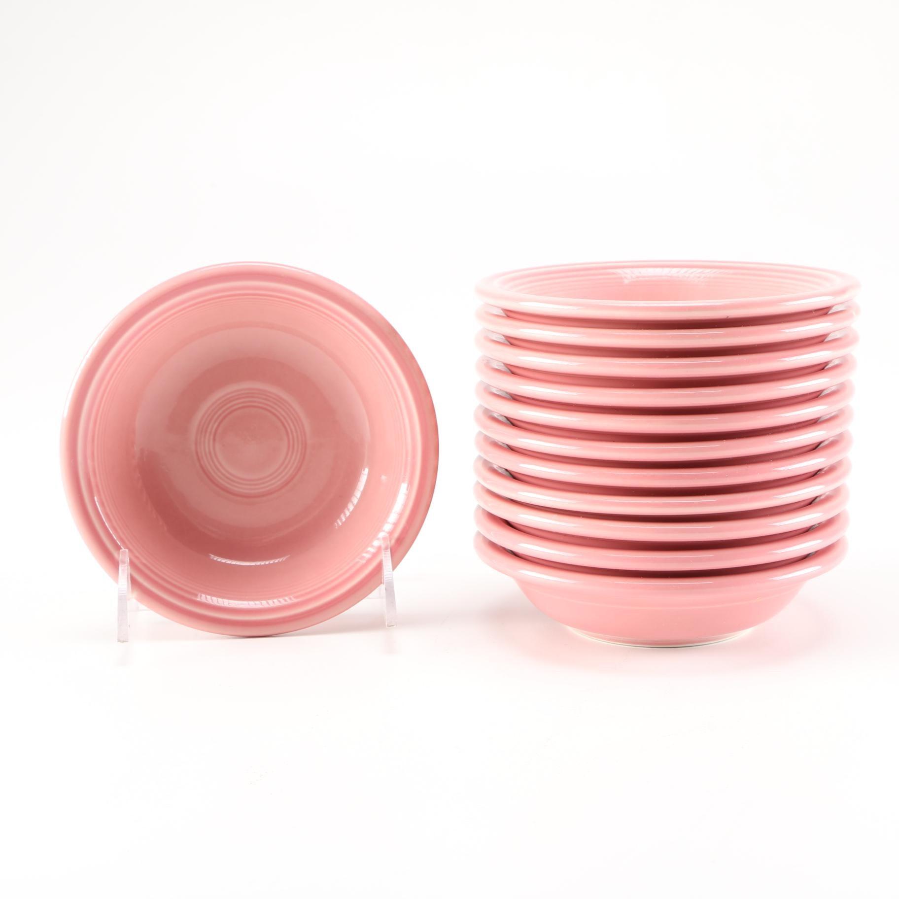 Pink Fiestaware Berry Bowls