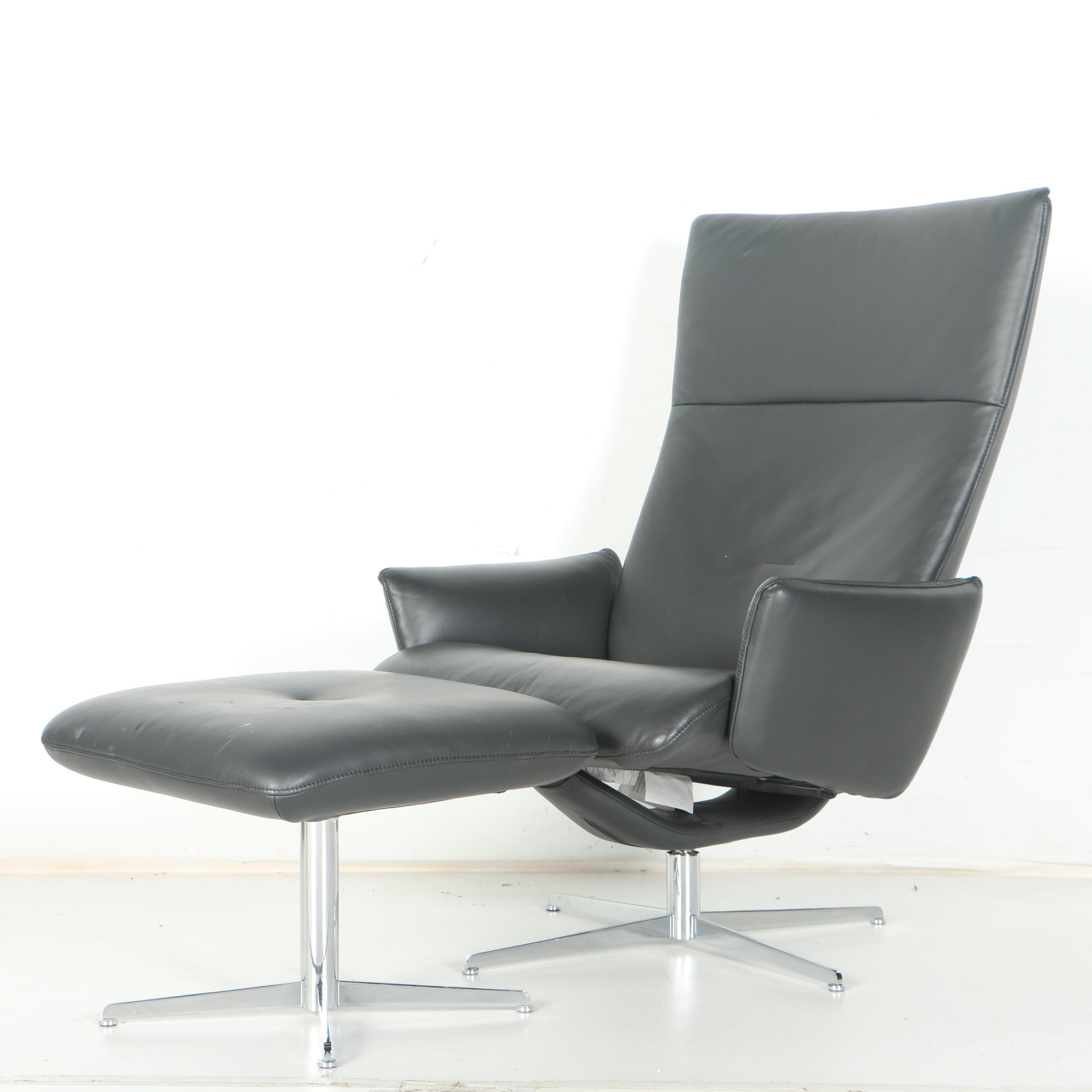 Fjords Leather Office Chair With Ottoman