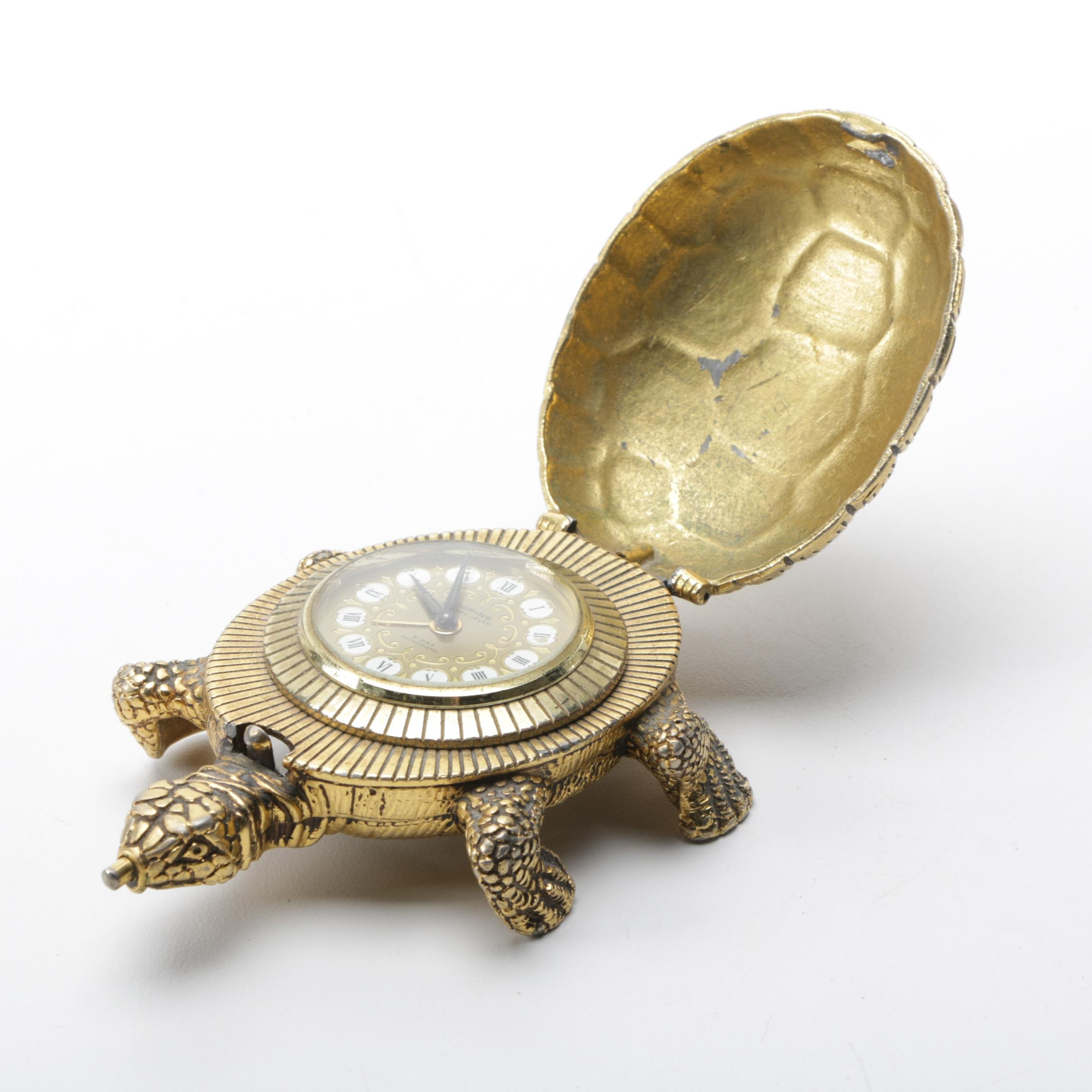 Gilded Turtle Clock by Looping