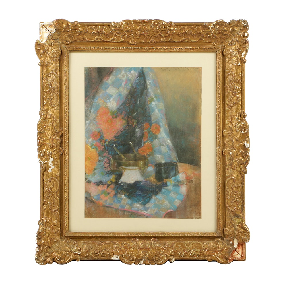 """Copy Pastel Drawing After William Merritt Chase """"Still Life..."""""""