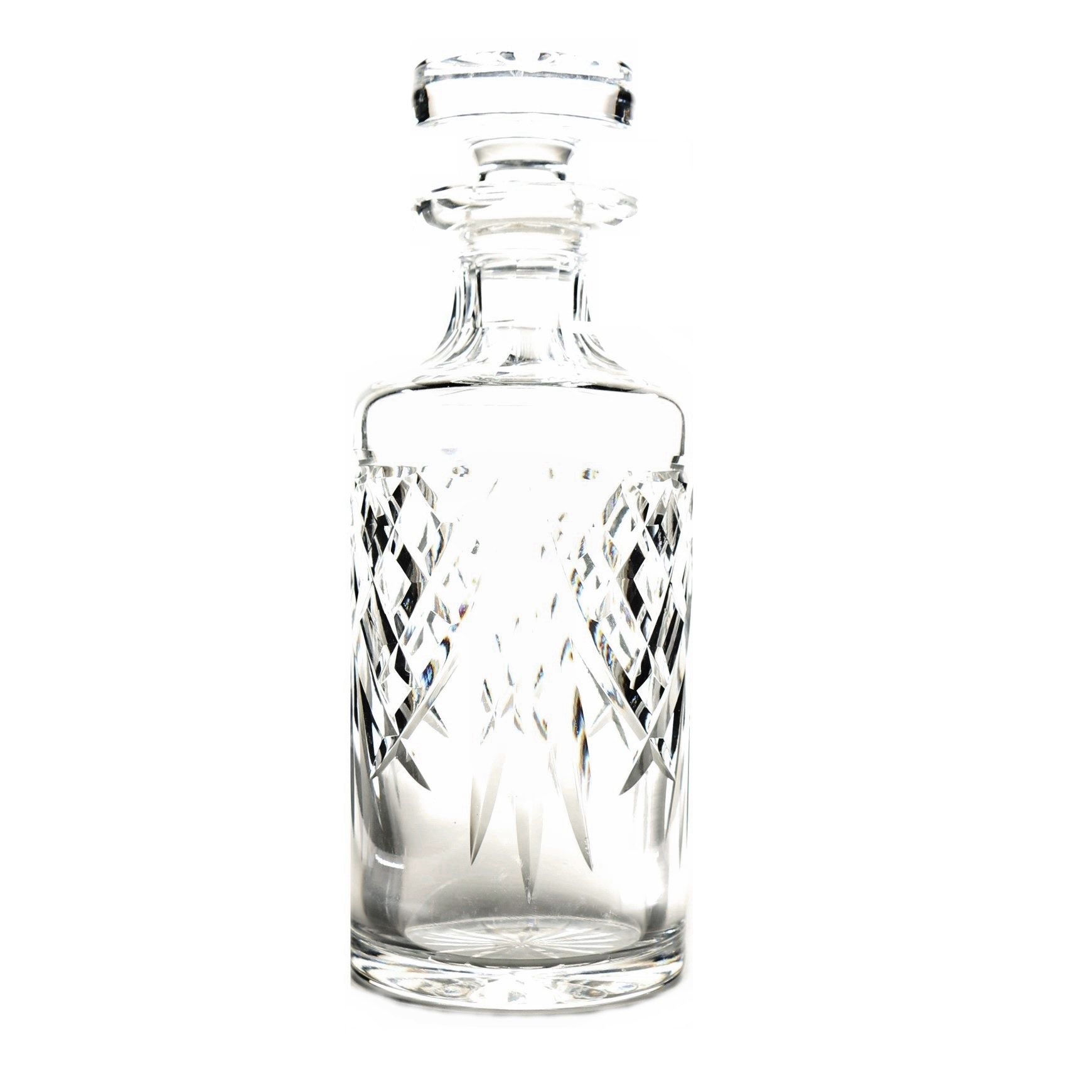 Waterford Decanter with Stopper and Quilted Detailing