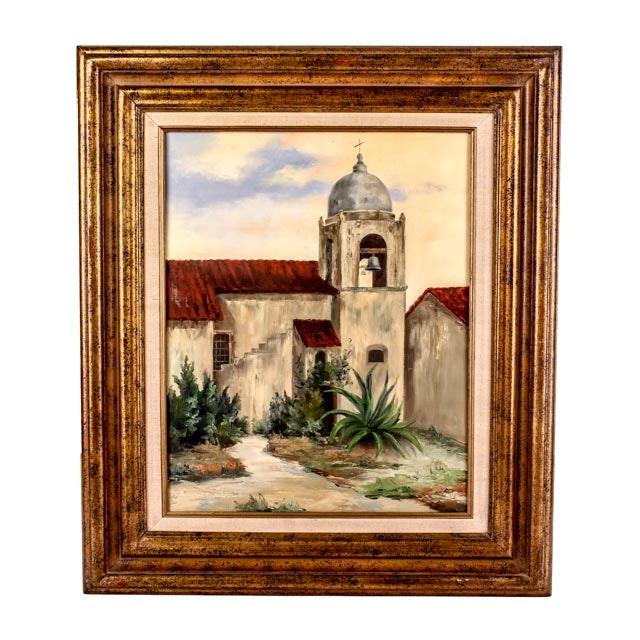 Eunice Harris Original Oil Painting of Mission Carmel California