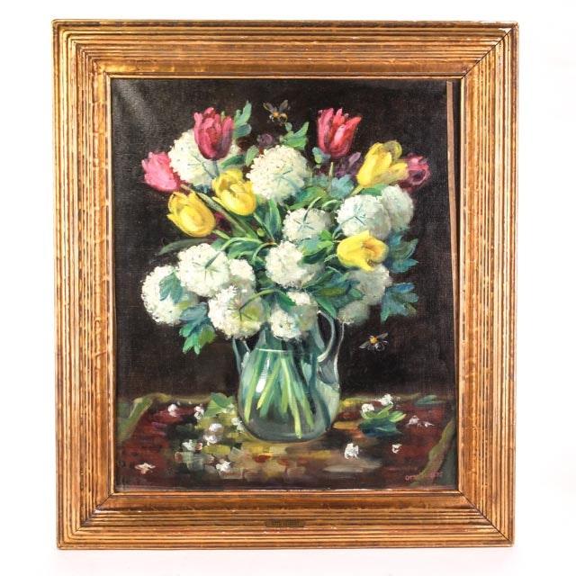 Original Otto Siebert Signed Still Life Oil Painting