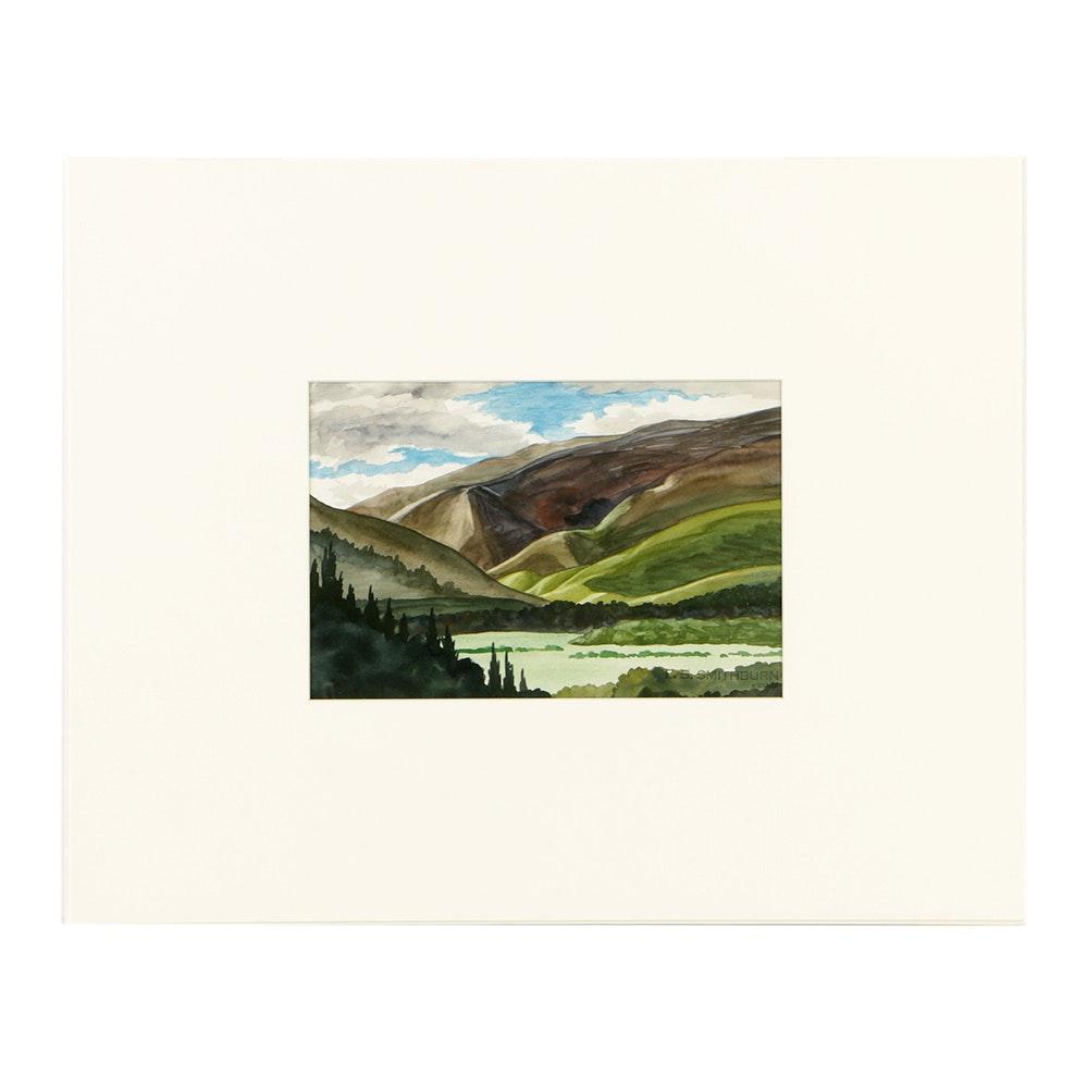 Original Florence B. Smithburn Watercolor Landscape