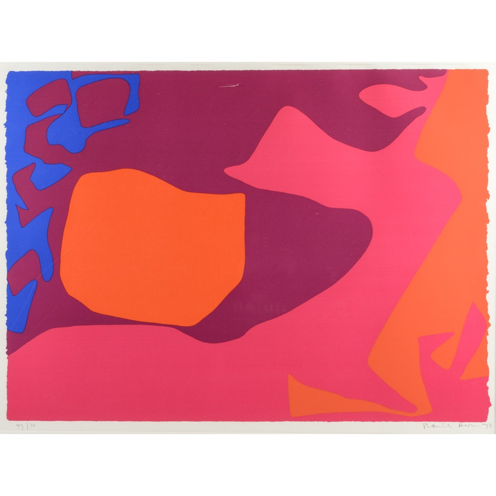 "Patrick Heron Limited Edition Abstract Serigraph ""January 1973: 2"""