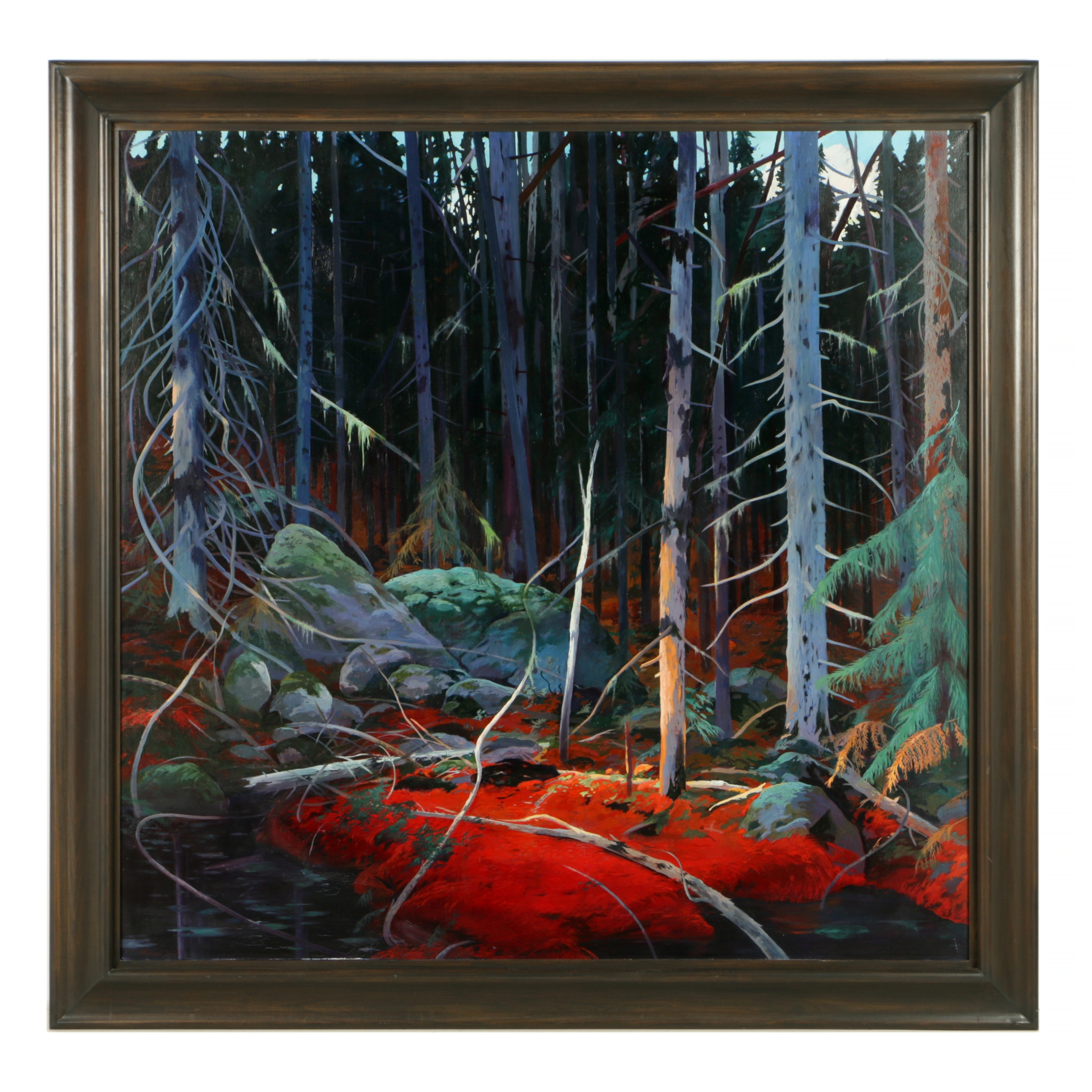 """Exceptional Original Painting """"Pine Bed"""" by Michael Scott"""