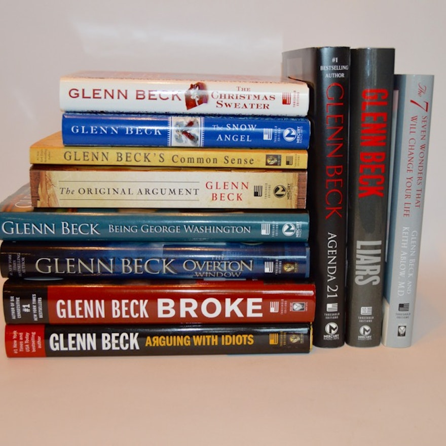 Glenn Beck Book Collection, Including First Editions