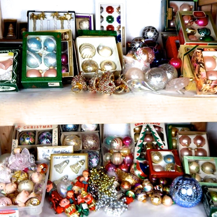 Assorted Group of Holiday Ornaments