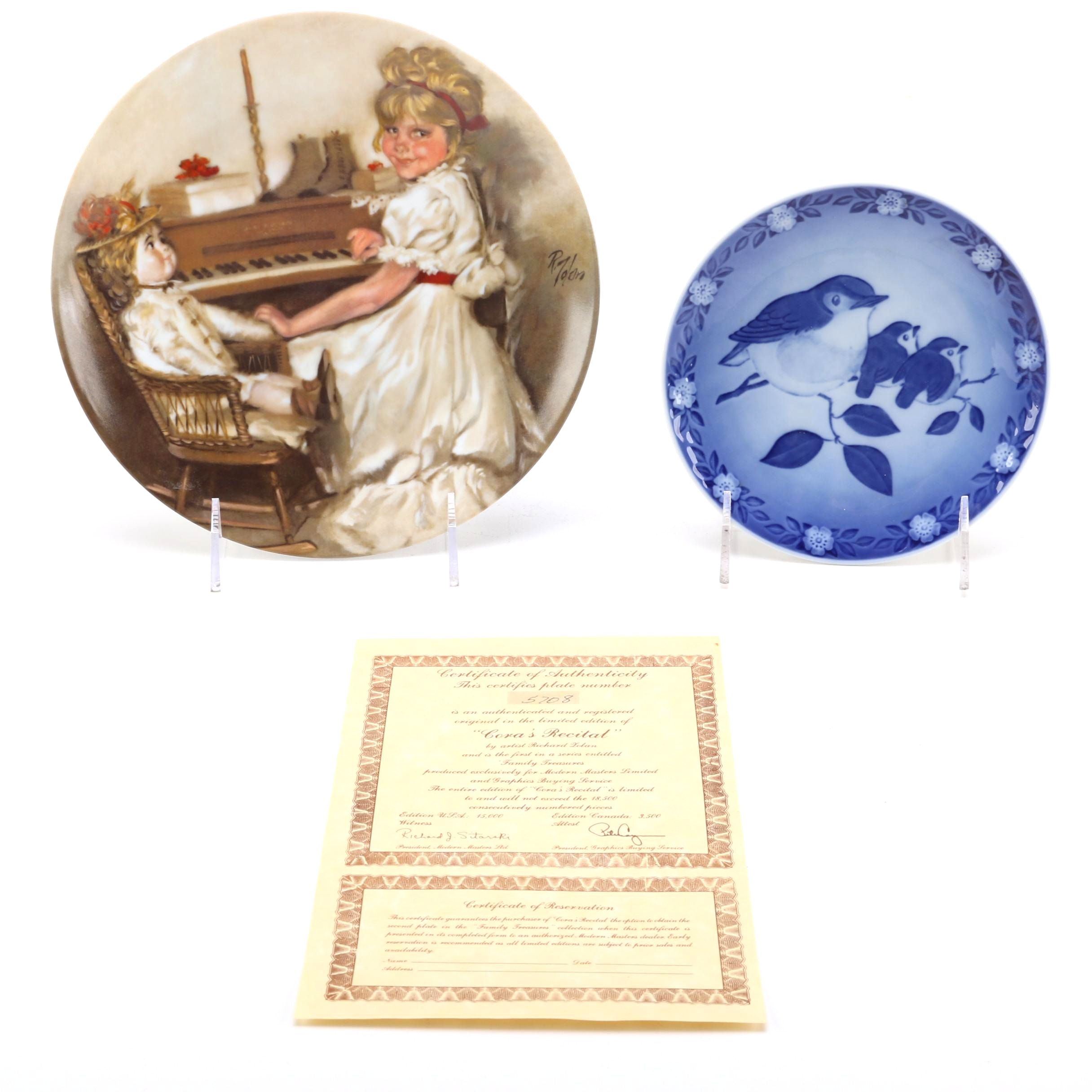 China and Porcelain Collector's Plates Including Royal Copenhagen