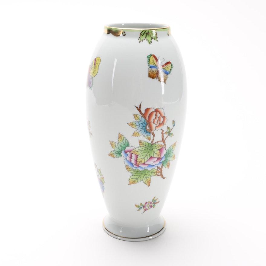 Herend Queen Victoria Porcelain Vase Ebth