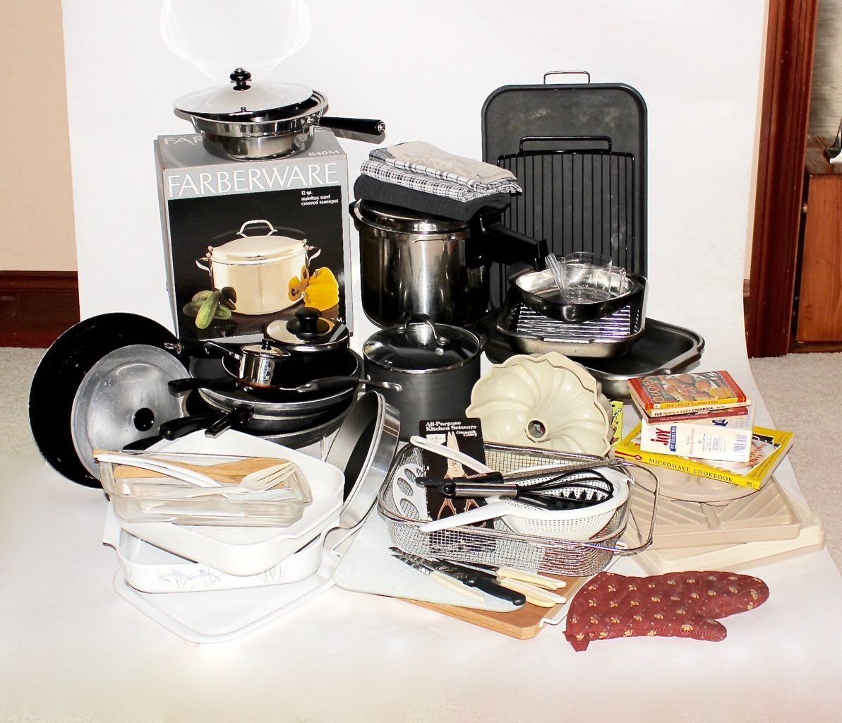 Large Assortment of Basic Kitchen Equipment & Tools