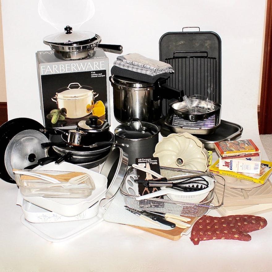 Large Assortment Of Basic Kitchen Equipment Tools