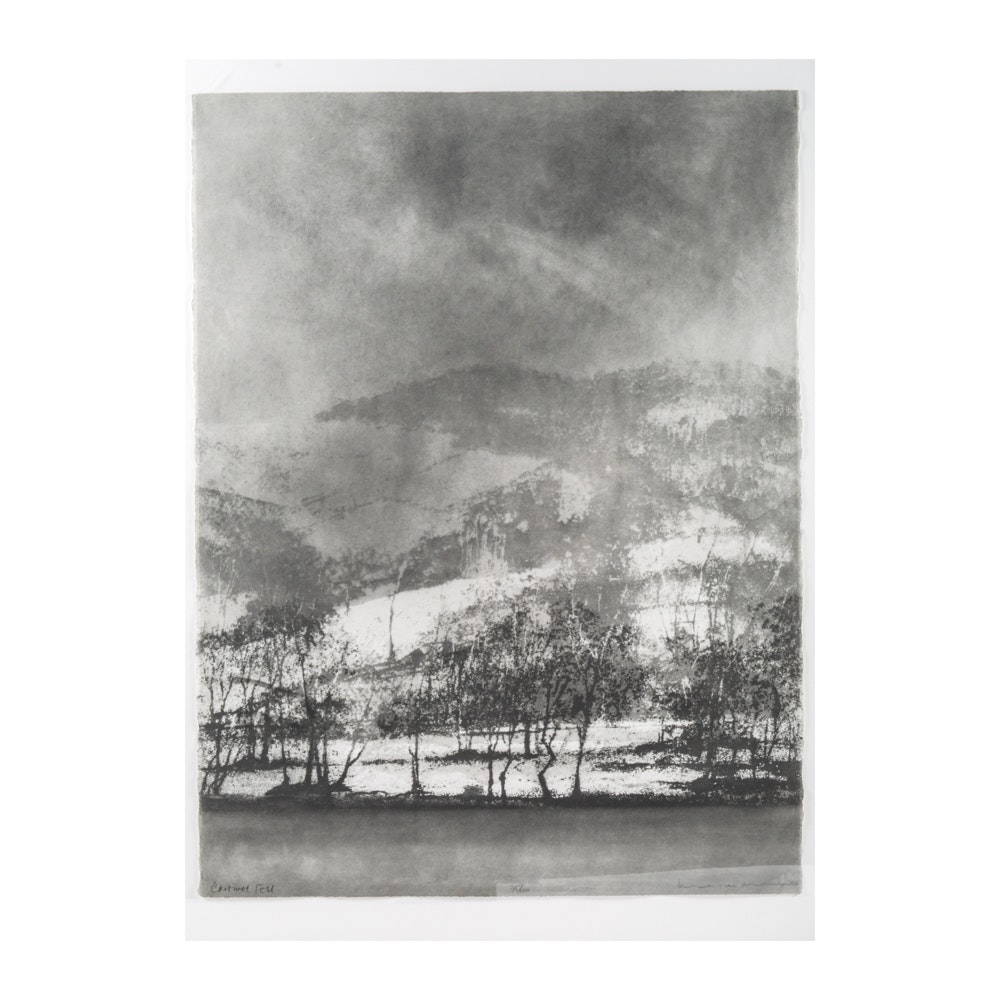 """Norman Ackroyd Etching """"Cartwell Fell"""""""