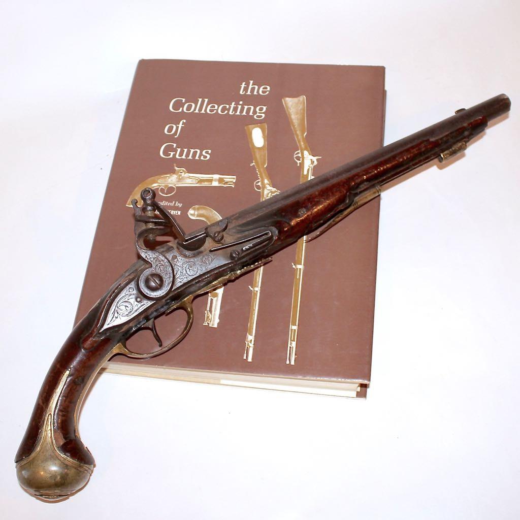 Antique Black Powder Caplock Pistol and Collecting Book