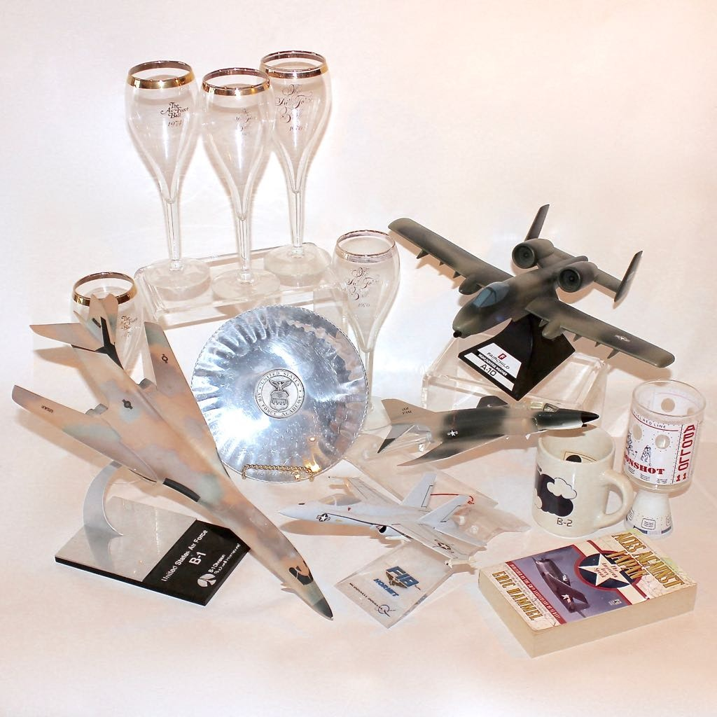 Vintage Group of Air Force Commemorative Models and Memorabilia