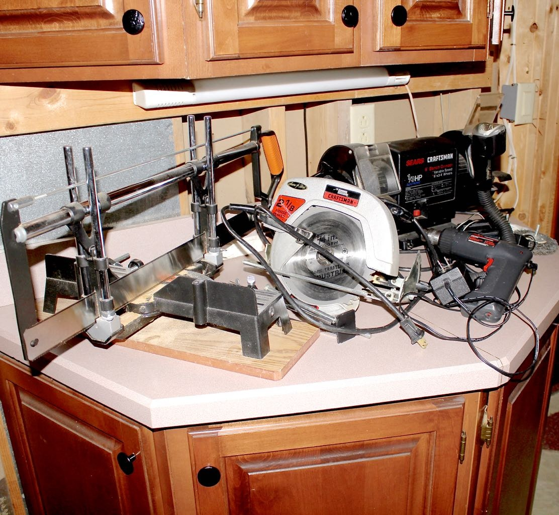 Craftsman and Skil Power Tools With Jorgensen Trim Saw