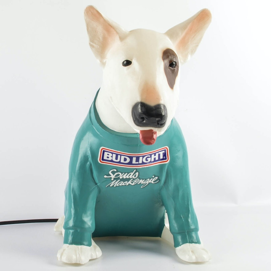 late 1980s bud light spuds mackenzie lamp ebth