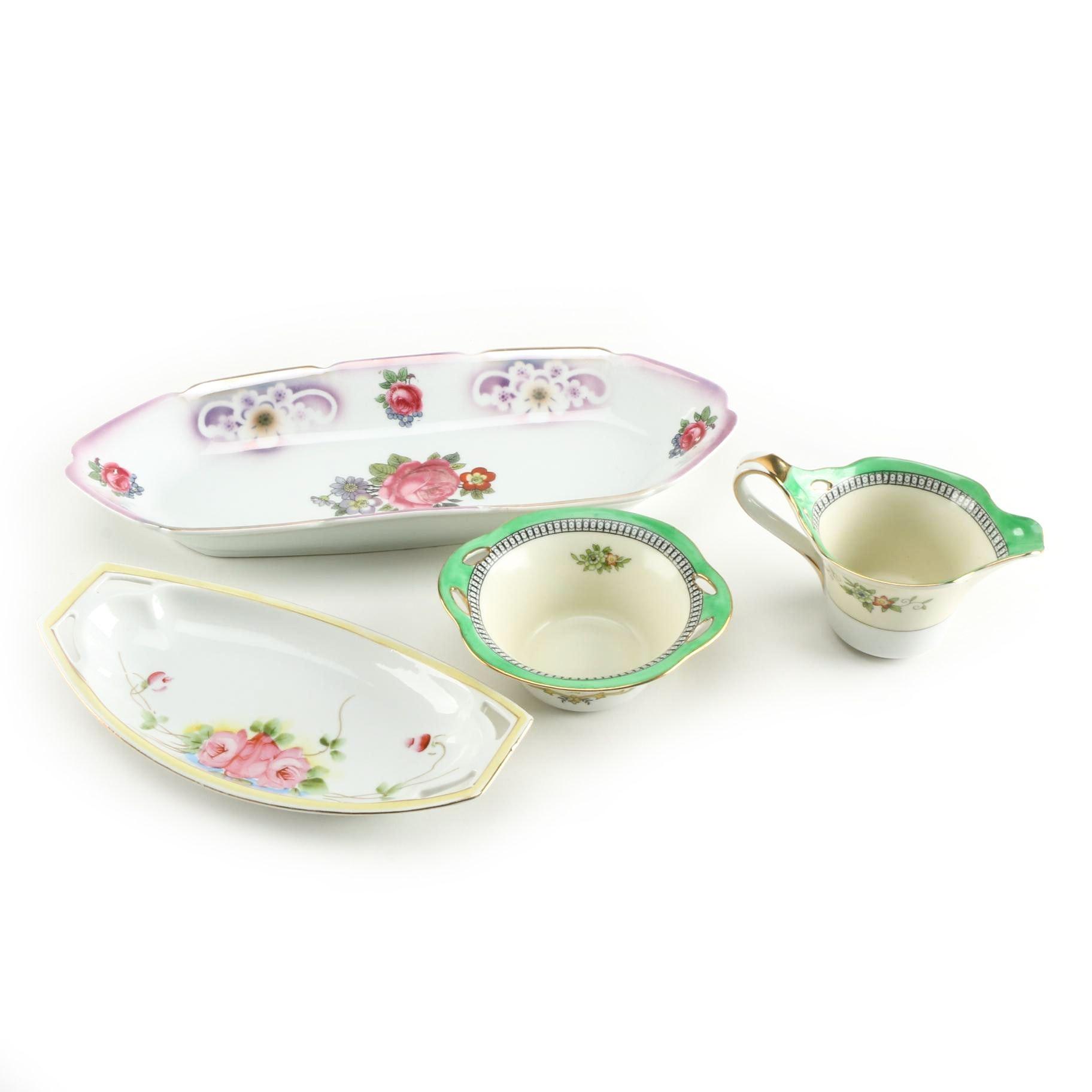 "Assortment of Vintage Dishes Including Noritaki ""Roseara"""