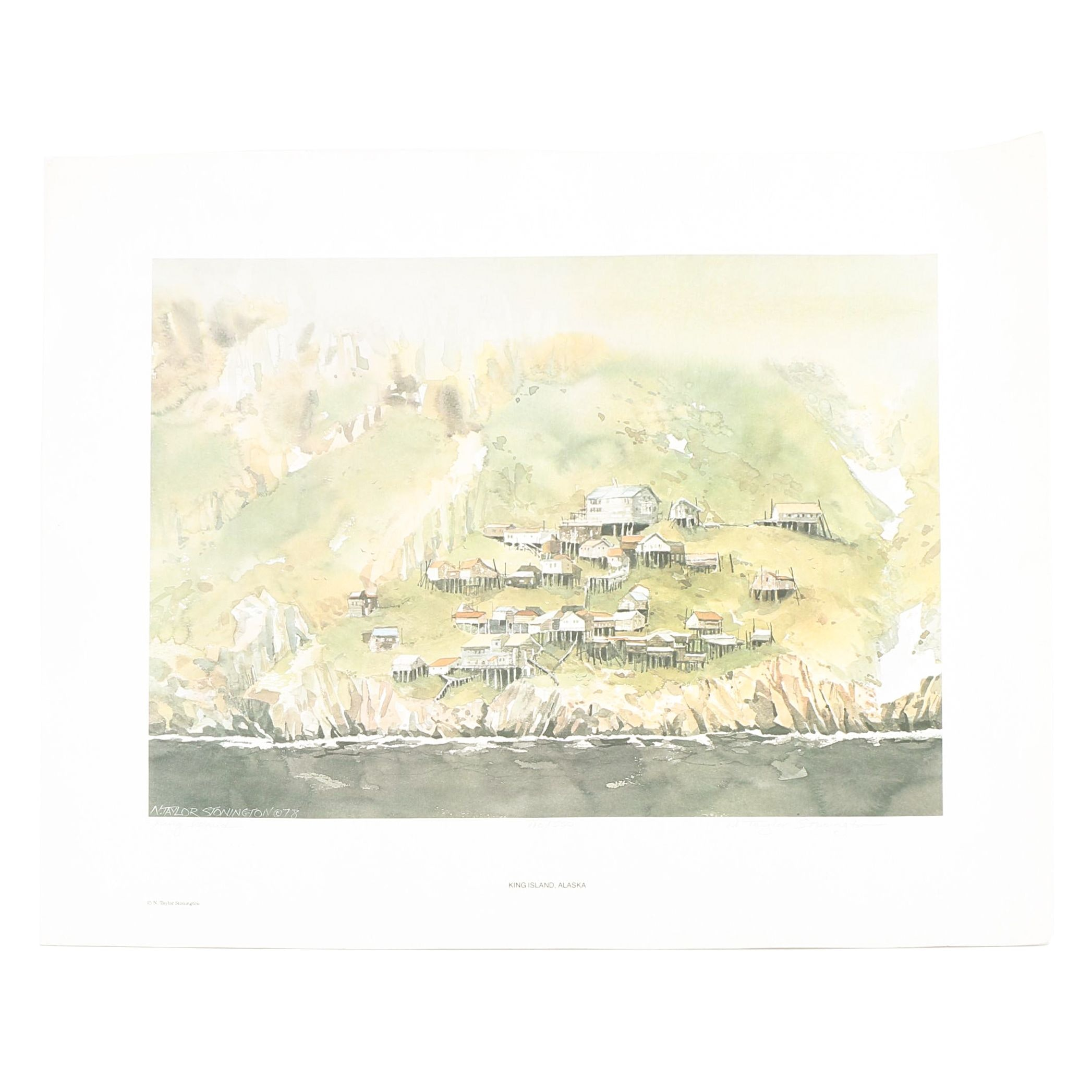After N. Taylor Stonington Limited Edition Offset Lithograph