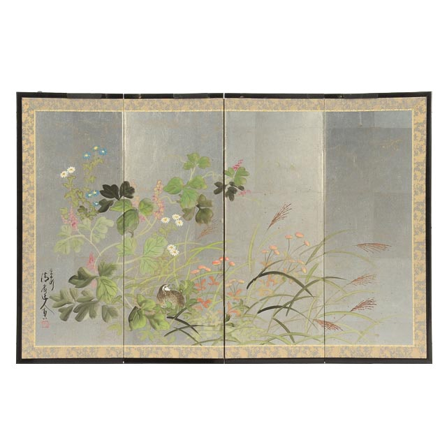 Hand-Painted Chinese Decorative Folding Screen