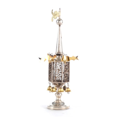 19th Century Russian Silver Spice Tower