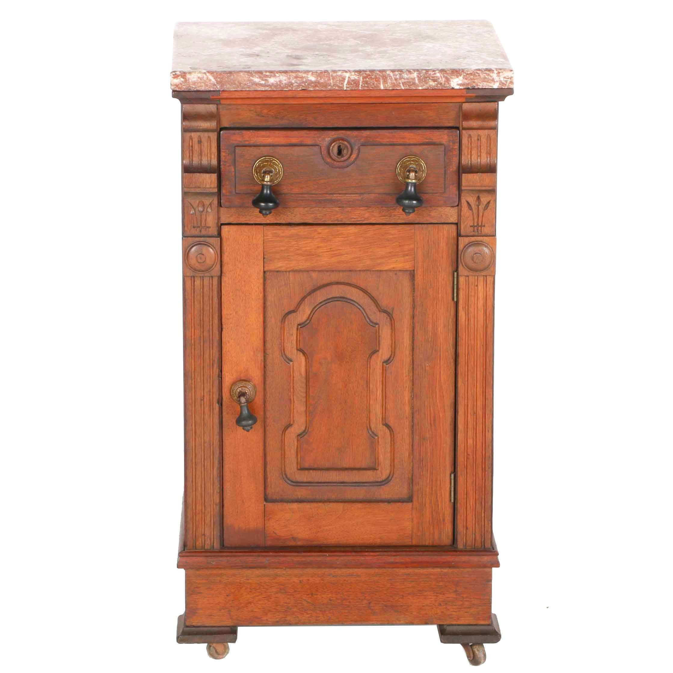 Late 19th Century Victorian Marble Top Night Stand