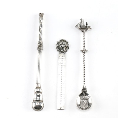 sterling and 800 silver items featuring theodore w foster