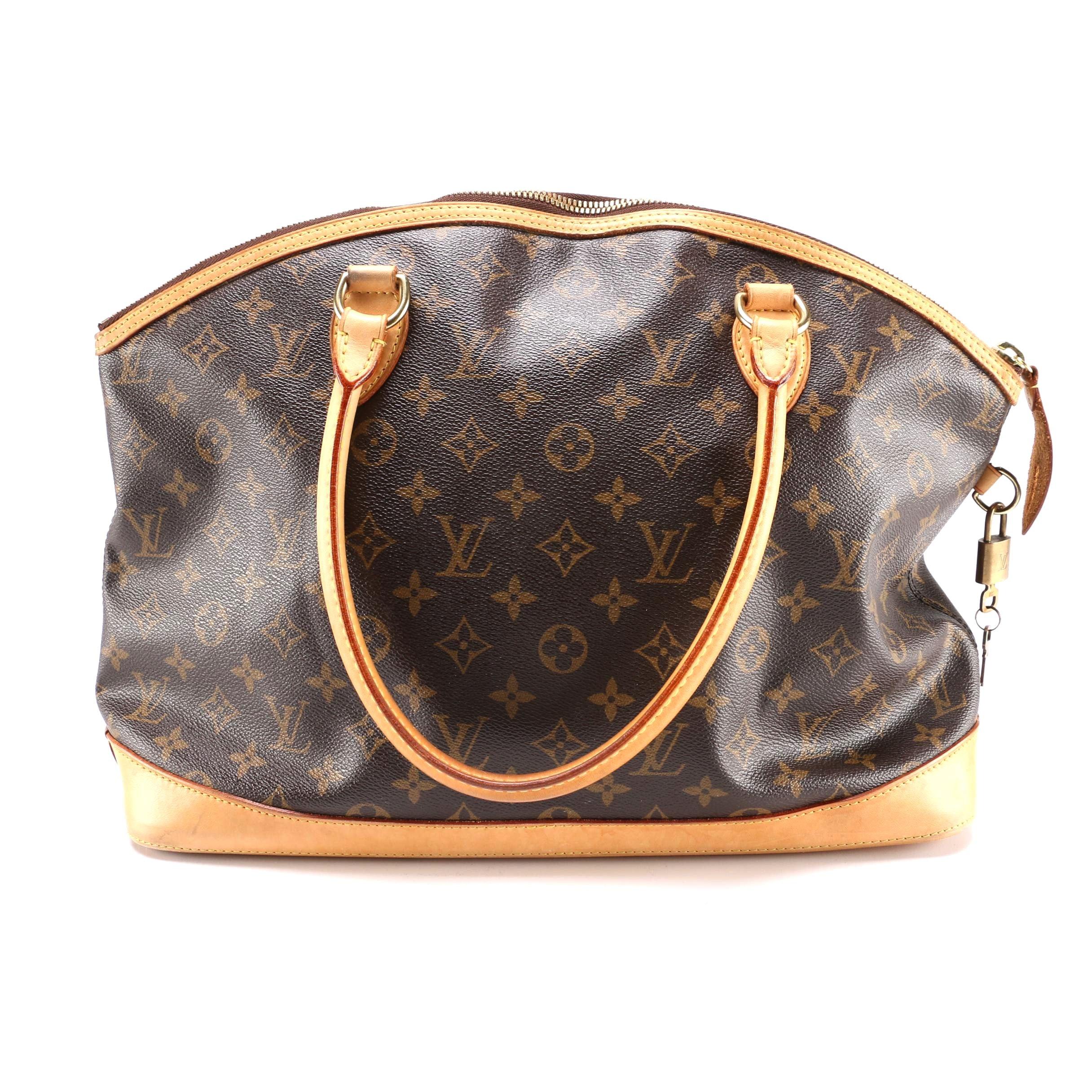 Louis Vuitton Monogram Lockit Horizontal Handbag