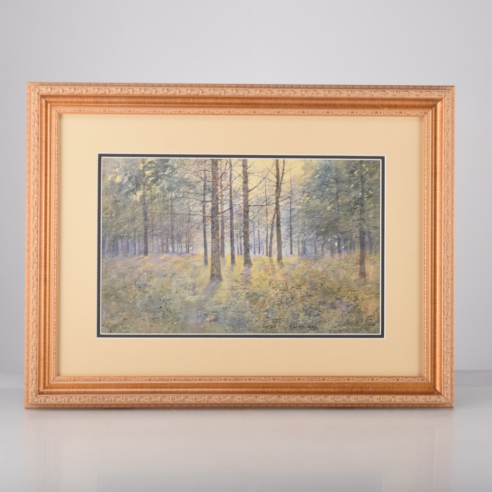 """Paul Sawyier Limited Edition Offset Lithograph """"Tanglewood"""""""