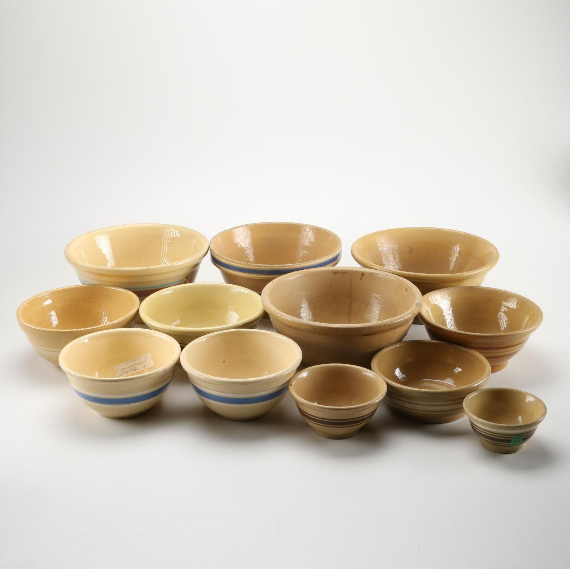 Stoneware Bowls Including Robinson Ransbottom and Watt