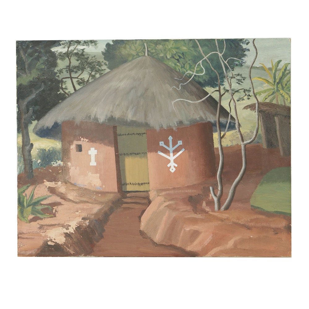 Oil Painting on Canvas on Board Attributed to Florence Smithburn